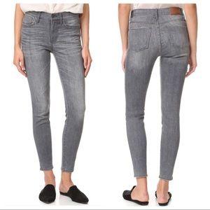 "Madewell High Riser 9"" Skinny Skinny Jeans Gray 24"
